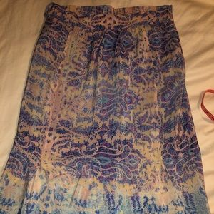 Maeve silk maxi skirt size small with slits